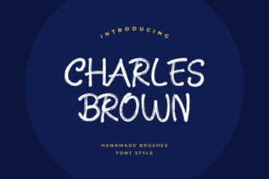 fonts charles brown brush