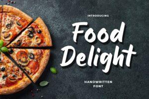fonts food delight handwritten