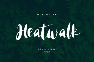 fonts heatwalk brush script