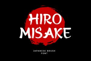 fonts hiro misake brush