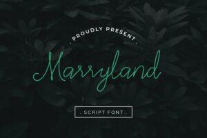 fonts marryland script 1
