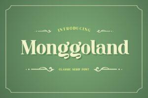 fonts monggoland serif