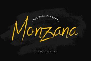 fonts monzana brush typeface
