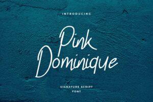 fonts pink dominique script 1