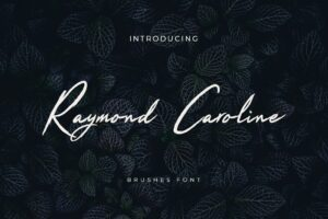 fonts raymond caroline 1