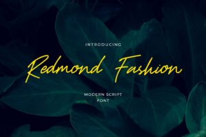 fonts redmond fashion