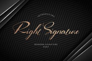 fonts right signature