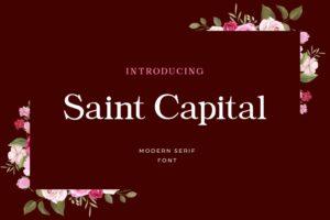 fonts saint capital serif