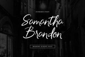 fonts samantha brandon 5
