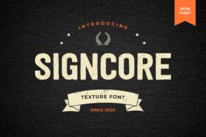 fonts signcore texture