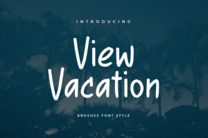 fonts view vacation brush