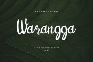 fonts warangga script typeface