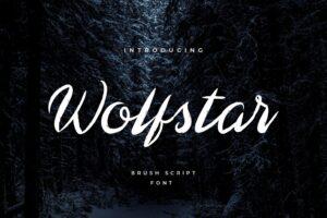 fonts wolfstar brush script