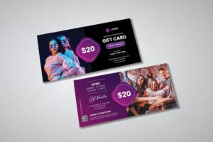 gift card voucher casual fashion promotion