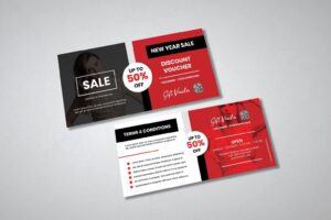 gift card voucher modern fashion sale