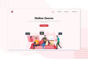 illustration landing pages best online course