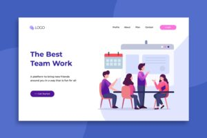 illustration landing pages best team works
