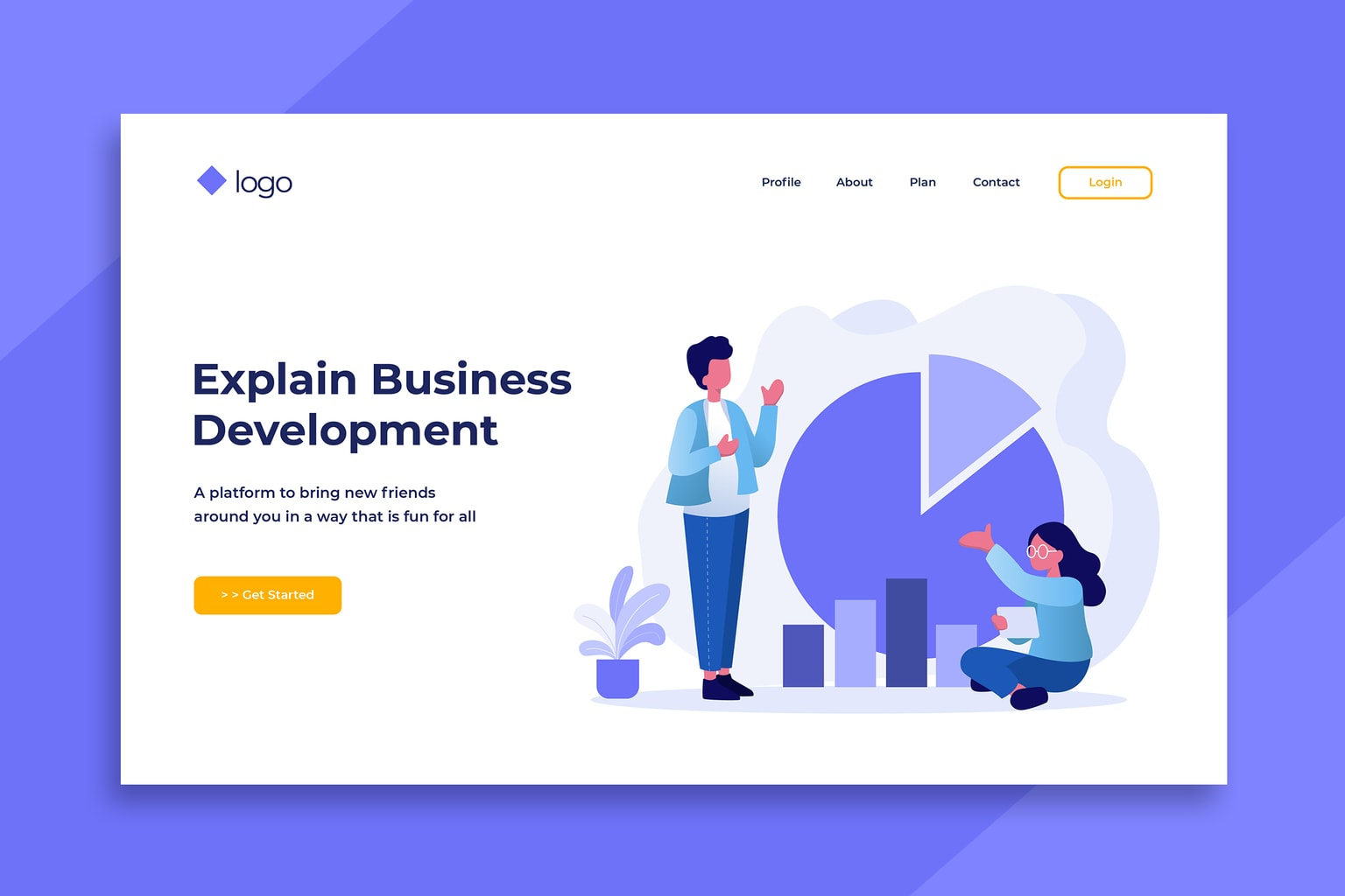 illustration landing pages business grow development