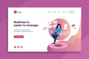illustration landing pages business management