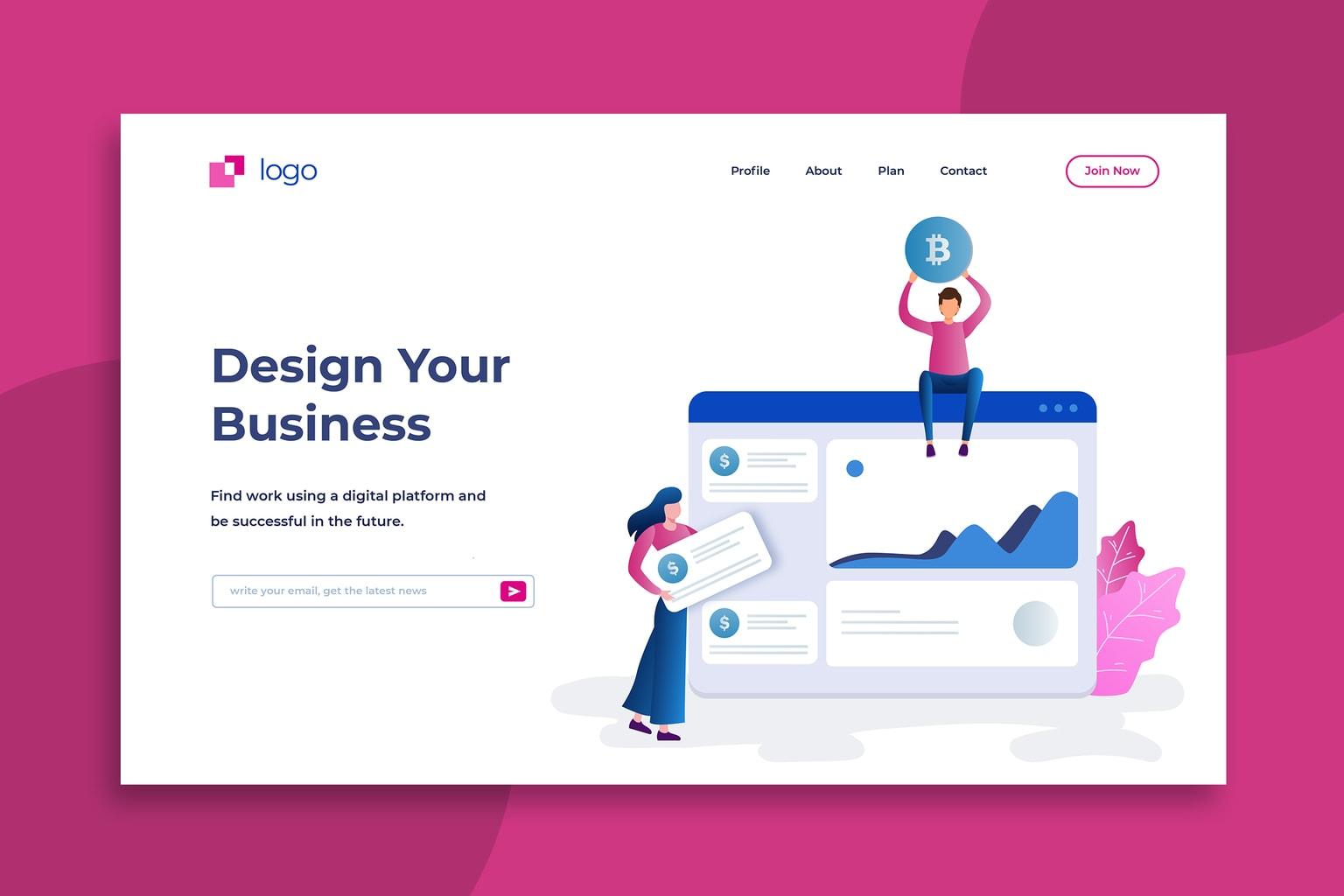 illustration landing pages design your business