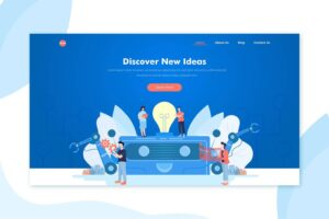 illustration landing pages discover creative ideas
