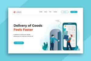 illustration landing pages faster service delivery