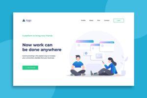 illustration landing pages online work platforms