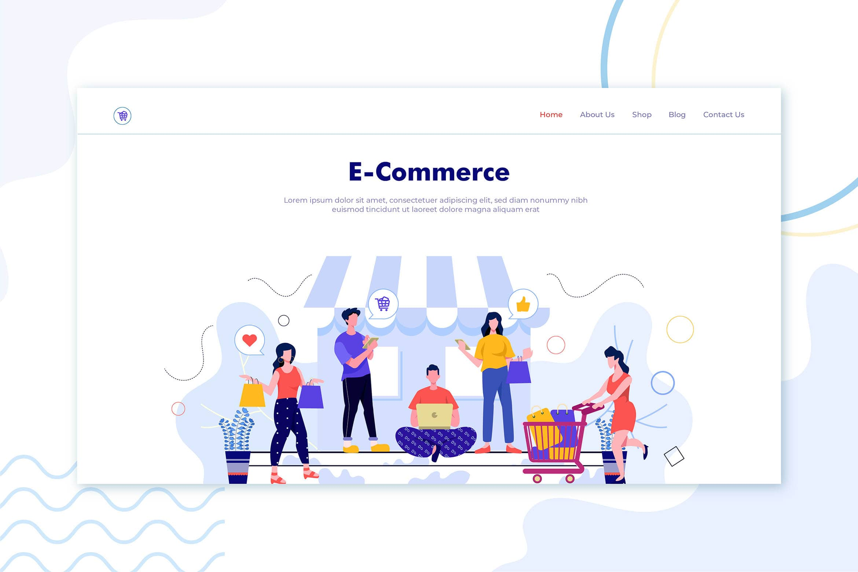 illustration landing pages popular e commerce