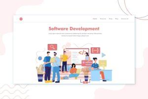 illustration landing pages software development