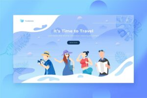 illustration landing pages trusted travel agency