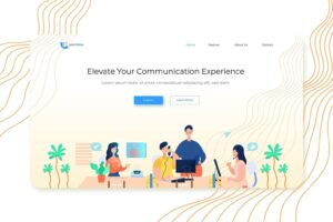 illustration landing pages user experience service