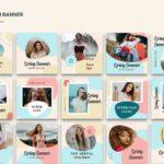 instagram banner spring sale colorful 3
