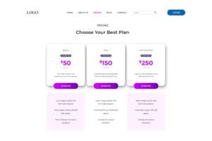 pricing table digital asset online market 1