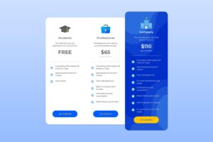 pricing table digital asset online market