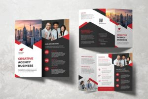 trifold brochure creative brand activation