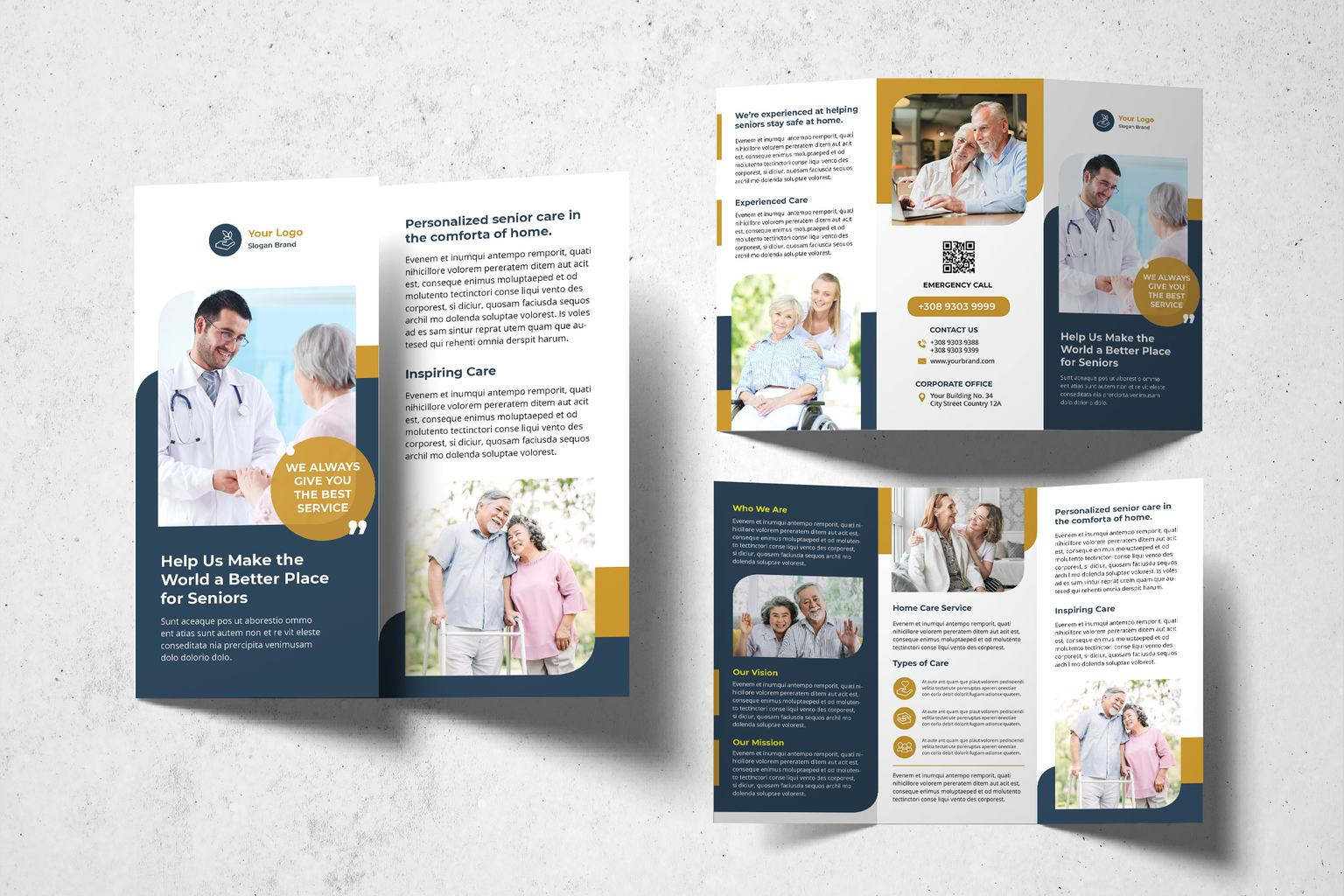 trifold brochure elderly health services 1