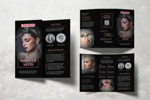 trifold brochure make up artist service
