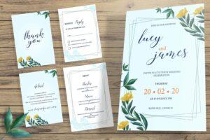 wedding invitation ordinary sky blue 1
